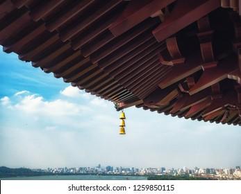 View over West Lake (Xi Hu) in Hangzhou, China from Leifeng pagoda.