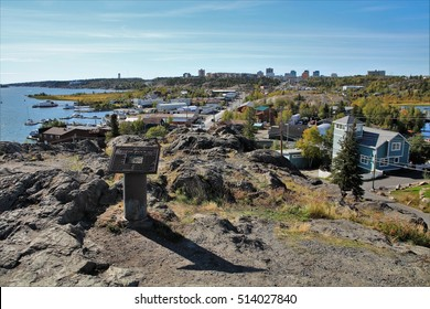 view over the Yellowknife bay/ Autumn in Yellowknife/ Northwest Territories