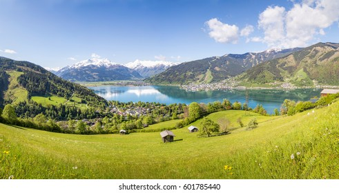 View over Zell am See in Summer, Salzburg, Austria