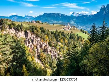 view from overbozen am ritten near bolzano in italy