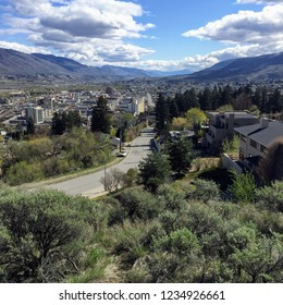 View overlooking the arid town of Kamloops, in the beautiful interior of British Columbia, Canada