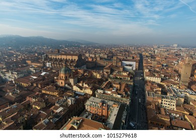 View overlooking Bologna, Italy from theTwo Towers
