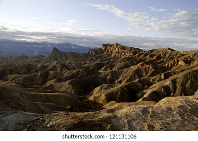 A view overlooking the mountains in Death Valley National Park.
