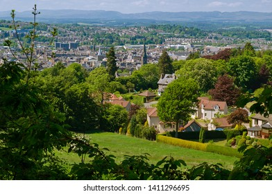 View overlooking Perth, Scotland from Kinnoull Hill Woodland Park