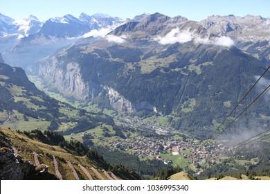 View overlooking Wengen, Switzerland