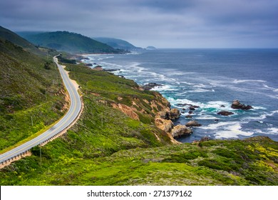 View of Pacific Coast Highway, at Garrapata State Park, California.