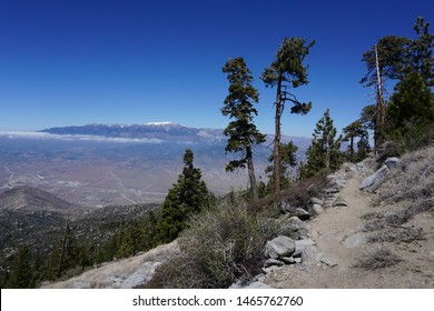 View from the Pacific Crest Trail: San Bernardino Mountains and the desert floor in California