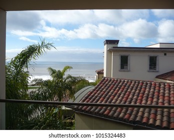 View of the Pacific Ocean from a balcony near Pismo Beach, California in 2010