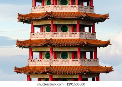 View of Pagoda of the Chinese Chin Swee Caves Temple, Genting Highlands, is a famous public tourism spot in Malaysia. Chin Swee Caves Temple is a Chinese Buddhist taoist temple