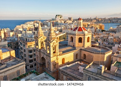 View from The Palace Hotel in Sliema, with Valletta in the foreground