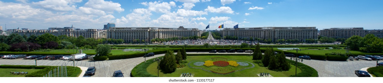 View from Palace of the Parliament Bucharest Romania