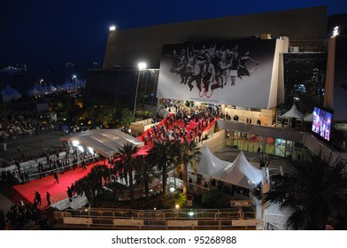 View of the Palais des Festivals showing red carpet arrivals at a screening at the 60th Annual International Film Festival de Cannes.  May 18, 2007  Cannes, France.  2007 Paul Smith / Featureflash