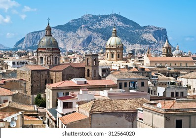 View of Palermo with old houses and monuments. sicily italy