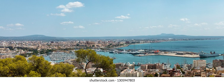 View of Palma de Mallorca from Castell de Bellver