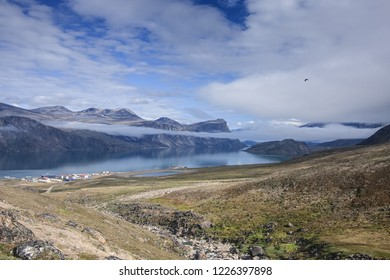 A view of Pangnirtung Fjord, from Pangnirtung, Nunavut
