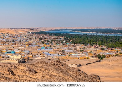 view of the panorama of the Nubian colored village