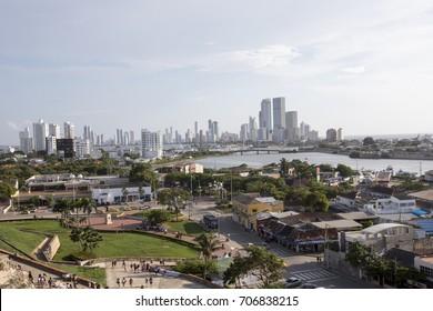 View panoramic of Cartagena de Indias, Colombia