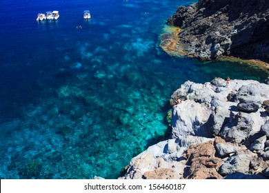 View of Pantelleria coast famous island in Sicily