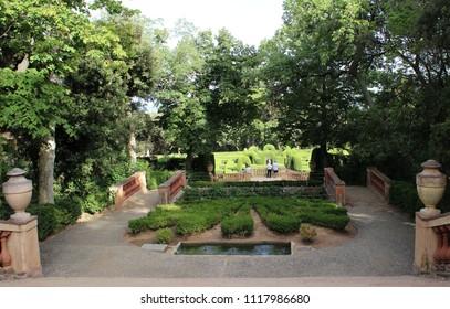 View of Parc del Laberint d'Horta, Barcelona, Spain