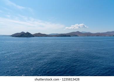 View of Parikia bay and harbor - Cyclades island - Aegean sea - Paroikia (Parikia) Paros - Greece