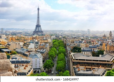 View of Paris from the Arc de Triomphe. Paris.