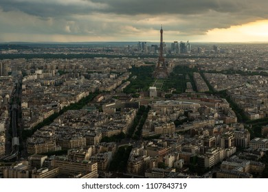 View of Paris during Sunset from the Montparnasse Tower, Paris, Europe