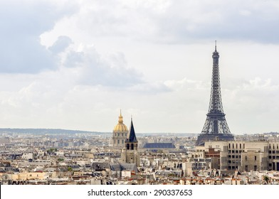 View of Paris from an observation point in Notre Dame