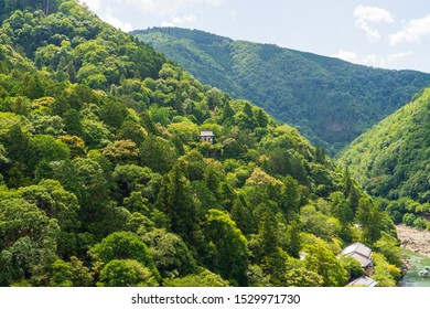 View from  Park Observation Deck over Katsura river valley.