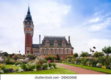 View of the parliament building of Calais in France in summer 2014