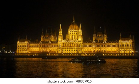 View of the Parliament from the Danube, Budapest, Hungary
