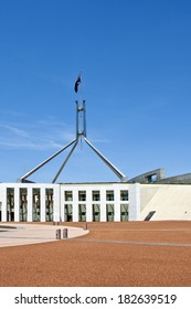 View of Parliament House Canberra on a sunny day