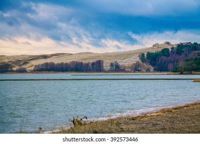 View of the Parnidis dune in winter, Neringa, Lithuania