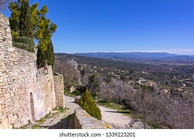 View of a part of the small French village Gordes in Provence, near the Luberon.