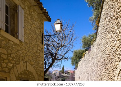 View of a part of the small French village Gordes in Provence, near the mountain Luberon.