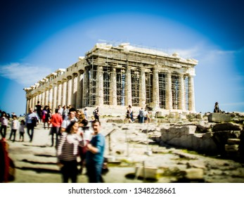 View of Partenon on Acropolis in Athens, Greece