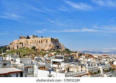 view of Parthenon in Acropolis, Athens,Greece