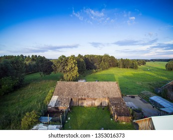 view of the pasture from the drone