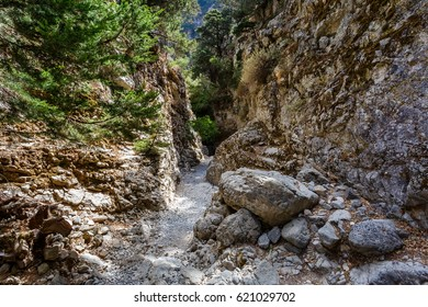 View of the path in the gorge of Imbros
