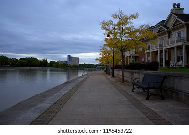 View of a Path next to Genesee river in Rochester, New York