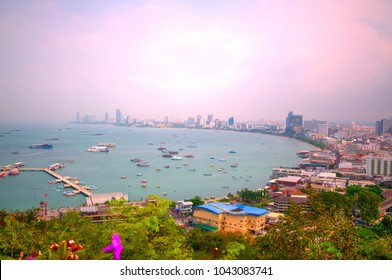A View of Pattaya Beach at Daytime (long time exposure)