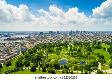 View of Patterson Park in Baltimore, Maryland.