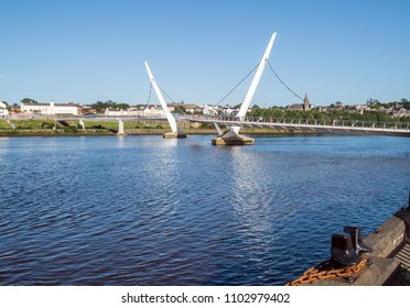 A view of the peace bridge at Derry Londonderry