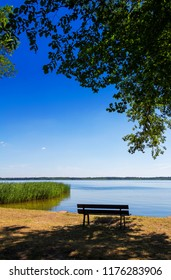 View of a Peaceful Lake in Germany Brandenburg
