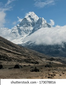 View of peak Ama Dablam - Everest region, Nepal