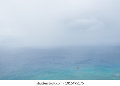view from the peak point of Diamond Head crater, Oahu, Hawaii, US