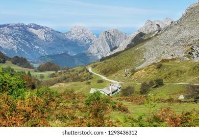 View of peaks in Urkiola, Basque Country. Natural Park
