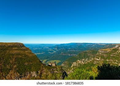 View of Pedra Furada in Morro da Igreja at 1822 meters of altitude, located between the border of the municipalities of Urubici, Bom Jardim da Serra and Orleans in Santa Catarina, Brazil.