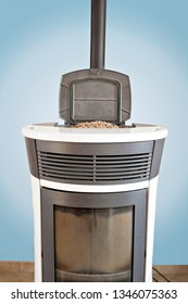 view of a pellet stove