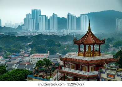 "View of Penang from The Kek Lok Si Temple ""Temple of Supreme Bliss"" a Buddhist temple situated in Air Itam in Penang"