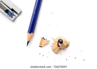 A view of pencil on white background